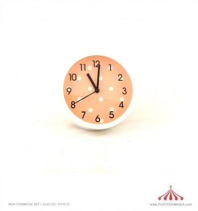 Relógio de mesa redondo branco