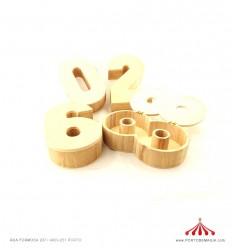 Caixa Número em madeira