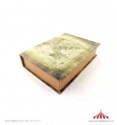 Caixa livro mapa médio