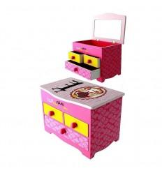Caixa de Música - Capuchinho vermelho em madeira