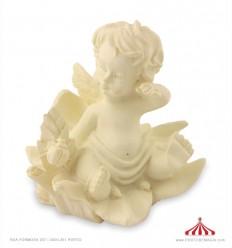 Anjo sentado flores