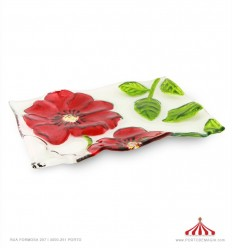 Bandeja flores relevo