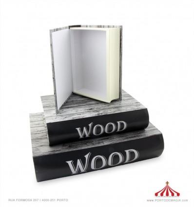 Caixa livro Wood pequeno