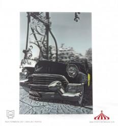 Quadro 3D Cadillac preto vertical