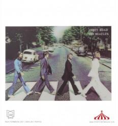 Quadro 3D Abbey Road The Beatles grande