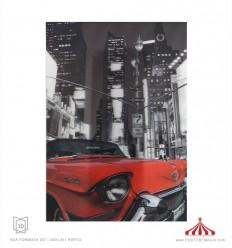 Quadro 3D carro vermelho No turns