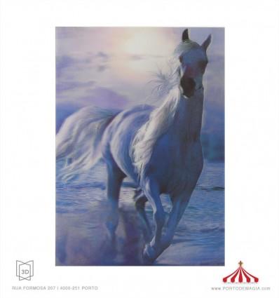 Quadro 3D Cavalo branco