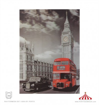 Quadro 3D Autocarro e táxi Londres