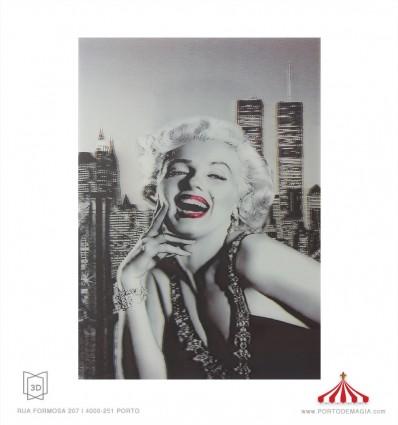 Quadro 3D Marilyn Monroe 1 grande
