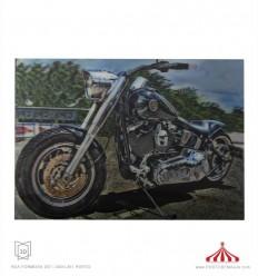 Quadro 3D Dragster Harley Davison