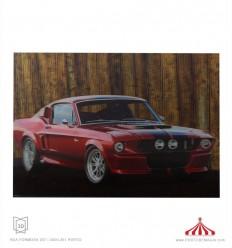 Quadro 3D Mustang vermelho