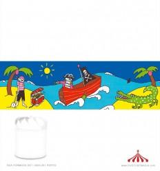 Cenário para lanterna Piratas