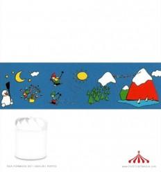 Cenário para Lanterna Inverno Boneco de Neve