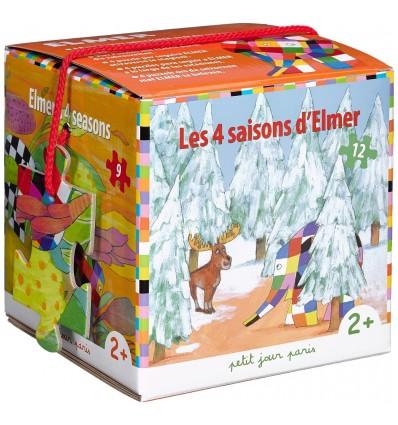 Caixa puzzles 4 estações Elmer