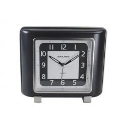 Relógio Despertador preto quadrado