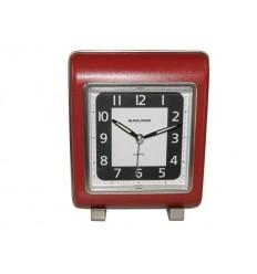 Relógio despertador vermelho rectangular