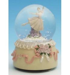 Bola de neve Ballerina em Polystone