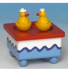 Patos Dançantes em madeira