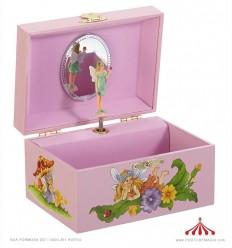 Caixa de música Fada em cor-de-rosa