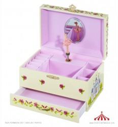 Caixa de joias Bailarina com fita