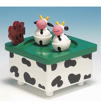 Vacas Dançantes em madeira