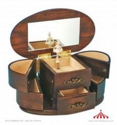 Caixa de joias em madeira