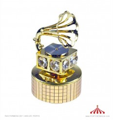 Gramofone com 6 cristais Austriacos