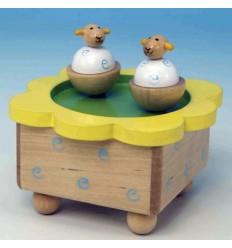 Ovelhas dançantes em madeira