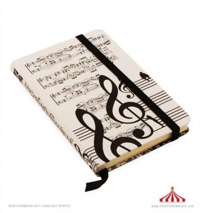 Agenda com Notas Musicais