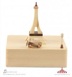 Torre Eiffel - Paris - Caixa musica madeira