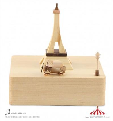 Torre Eiffel - Caixa de música em madeira