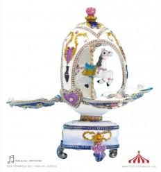 Cavalo carrossel - Ovo Fabergé