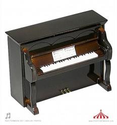 Piano vertical castanho 120