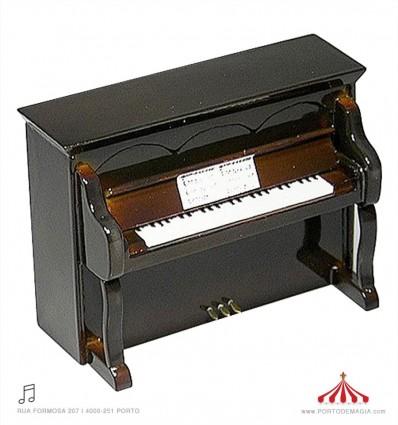 Piano vertical castanho 1:20