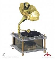 Gramofone em acrílico