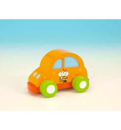 Automovel cor de laranja em madeira