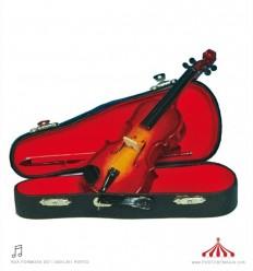 Violino de madeira com caixa