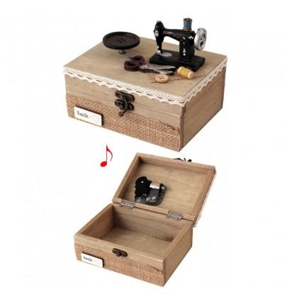 Caixa Costura Máquina e Botão