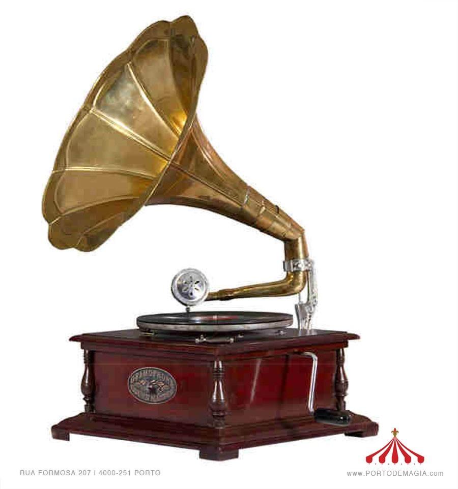 Gramofone Lat 227 O Madeira Quadrado Simbolo