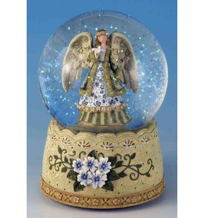Bola de neve Anjo com uma pomba