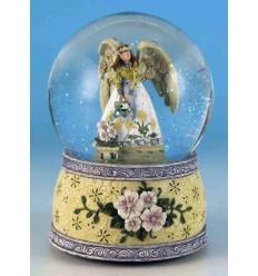 Bola de neve Anjo com flores