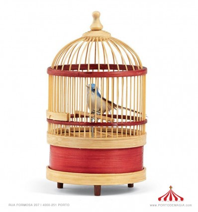 Gaiola pássaro mecânico