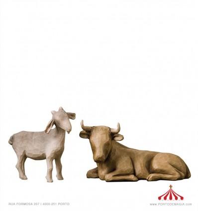Boi e cabra