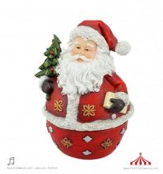 Pai Natal sempre em pé em Polystone