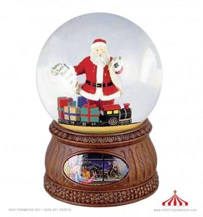 Pai Natal com lista de desejos