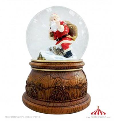 Snow globe Santa on the roof