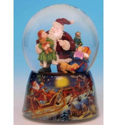Bola de neve: Pai Natal com criança