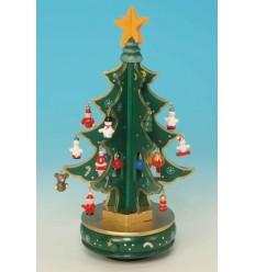 Arvore de Natal verde em madeira com 6 partes