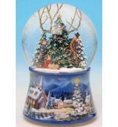Bola de neve enfeitar a arvore de Natal