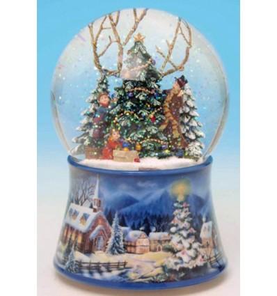 Bola de neve: enfeitar a arvore de Natal